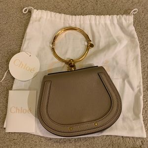 authentic chloe nile small grey bag